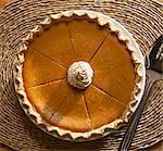 Pumpkin pie (seen from above)