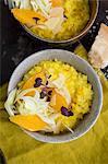Saffron risotto with orange, fennel, Sakura Cress and parmesan