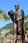 Turkey, province of Mugla, Dalyan, statue of Ataturk (Mustafa Kemal)