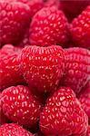 Many Fresh Raspberries