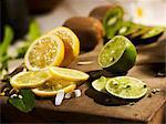Lemon, lime and kiwi