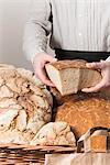 A bread seller at a market