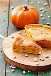 Pumpkin & bean quiche with Parmesan
