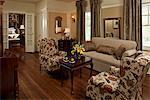 Living room at a Mississippi Inn, Fairview Inn, Jackson, MS.