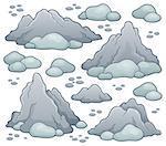 Rocks thematic set 1 - eps10 vector illustration.