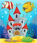 Underwater castle theme 2 - eps10 vector illustration.