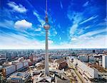panoramic view of berlin skyline