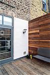Residential Refurbishment, Newcastle-upon-Tyne, UK. Exterior view of the patio.