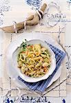 Conchiglie alla tartara di pesce (shell pasta with fish tartare, Italy)
