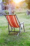 Striped deckchair