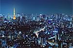 Tokyo cityscape at night, Tokyo, Japan