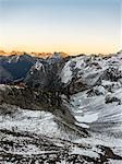 Snow covered mountain peaks, cascade mountain range, Diablo, Washington, USA