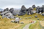 Hikers at Arthur's Pass, New Zealand