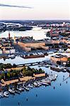 Aerial view of Skeppsholmen, Stockholm, Sweden