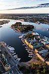 Aerial view of Nybroviken, Sweden