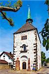 The historical Radbrunnenturm Tower in Breisach, Germany