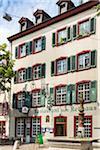 Swiss restaurant in traditional building in Basel, Switzerland