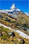 Scenic view along the Mark Twain Way from Riffelberg to Riffelalp in Zermatt, Switzerland