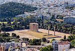 Ruins of olympieion, Athens, Attiki, Greece, Europe