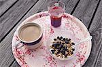 Breakfast on tray