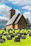 Graveyard near church