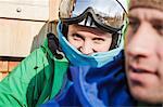 Portrait of young female skier, Warth, Vorarlberg, Austria
