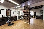 Interior of barber shop
