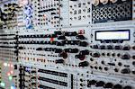 Full frame shot of modular set up at recording studio