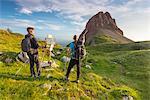 Mountain Palon at sunrise Europe, Italy, Trentino Alto Adige, Non Valley, Nana vallay, Trento district, Cles municipality