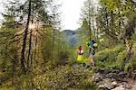 Path Mounts Toward Tuckett Refuge Europe, Italy, Trentino region, Trento district, Vallesinella, Brenta Dolomites