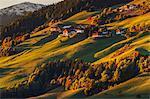 Autumn hills of Santa Magdalena, Funes valley, South Tyrol region, Trentino Alto Adige, Bolzano province, Italy, Europe