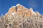 The famous south wall of mount Tofana di Rozes,Cortina d'Ampezzo,Belluno district,Veneto,Italy,Europe