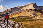 Fosses Alp with mount Croda del Beco,Cortina d'Ampezzo,Belluno district,Veneto,Italy,Europe