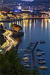 Night view of Como, lake Como, Lombardy, Italy, Europe,