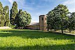 Pieve di Corsignano church. Pienza, Orcia Valley, Siena district, Tuscany, Italy.