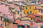 Colorful Houses at Riomaggiore, La Spezia , Liguria, North Italy , Italy