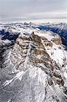 Aerial view of the rocky peaks of Monte Pelmo Ampezzo Dolomites Province of Belluno Veneto Italy Europe