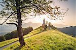 The iconic Jamik church, Jamnik, Kranj, Upper Carniola, Slovenia.