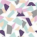 Delicate seamless mosaic pattern. Mosaic geometric shapes.
