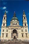 Facade of St. Stephen's Basilica, Budapest, Hungary, Europe