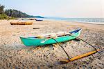 Fishing boat, Talpona Beach, South Goa, India, Asia