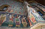 Suchevitsa (Sucevita) Monastery, Saxon painted Church, founded 1582, Orthodox Christian, UNESCO World Heritage Site, Suchevitsa, Bukovina, Romania, Europe