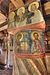 Frescoes, Cathedral of the Nativity, Zverin Monastery, UNESCO World Heritage Site, Veliky Novogrod, Novgorod Oblast, Russia, Europe