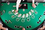 Black Jack dealer at casino
