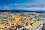 Yamagata, Japan downtown city skyline.