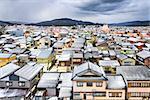 Wajima, Ishikawa, Japan town skyline.