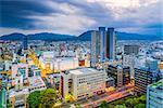 Shizuoka, Japan downtown skyline.
