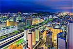 Shizuoka City, Japan downtown skyline.