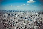 Tokyo city skyline panorama aerial view, Japan