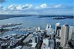 Auckland city center aerial view, New Zealand